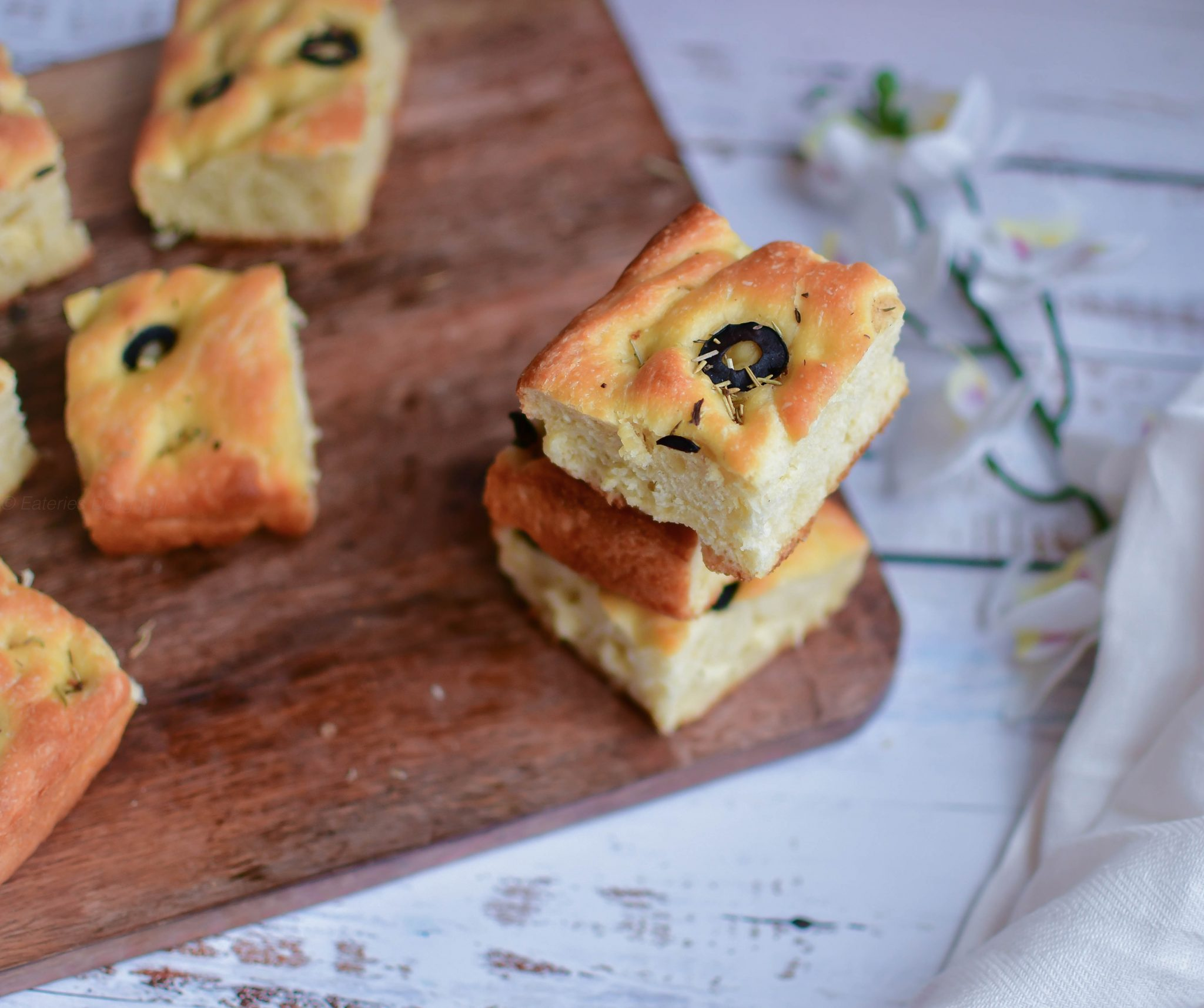 Focaccia with Olive and Herbs