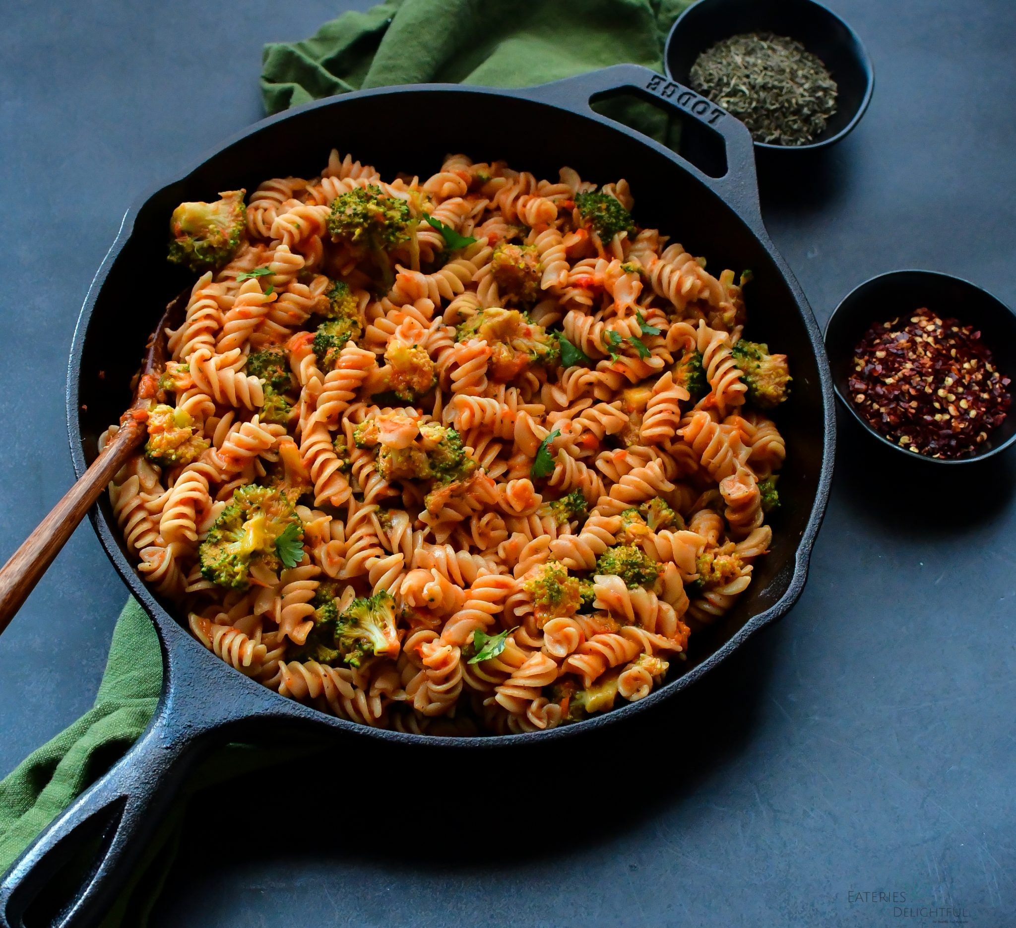 Pan Roasted Red Pepper Pasta